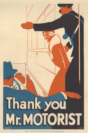 Poster; Thank you mr motorist, by J S Anderson, 1933