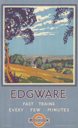 Related object: Poster; Edgware, by Walter E Spradbery, 1924