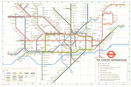 map pocket underground map no 1 issued by london transport executiv
