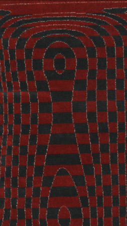 Moquette sample; new routemaster seat back design number 31912 , designed by heatherwick studio 2010
