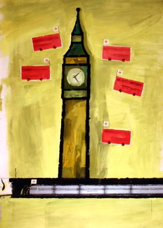 Related object: Poster artwork; Big Ben, by Hans Unger, 1972