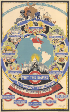 Poster; Visit the empire, by Ernest Michael Dinkel, 1933