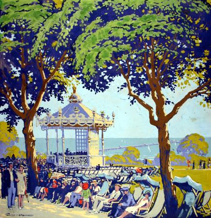 Related object: Poster artwork; Southend-on-Sea, by Walter E Spradbery, 1928