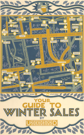 Poster; Your guide to winter sales, by Reginald Percy Gossop, 1928