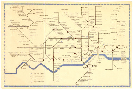 Related object: Map; Pocket Underground map No 1, by Hans Schleger, 1940