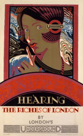 Poster; Hearing the riches of London, by Frederick Charles Herrick, 1927