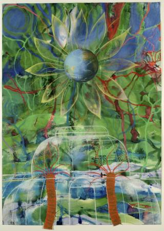 Related object: Poster artwork; Kew Gardens, by Pascale Petit, 1990.