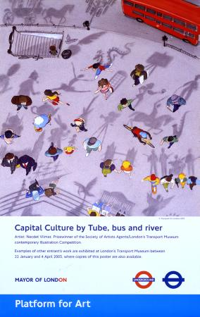 Poster; Capital culture, by Necdet Yilmaz, 2003