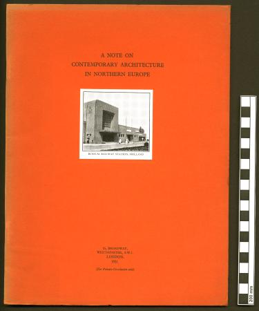 Booklet; a note on contemporary architecture in northern europe, issued by london transport, 1931
