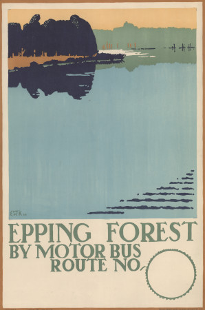 Poster; epping forest, by edward mcknight kauffer, 1920