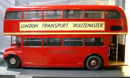 Related object: Model; 1:5 scale development model of RM-type double deck motorbus, possibly built by Mr Allchin, 1953-1958