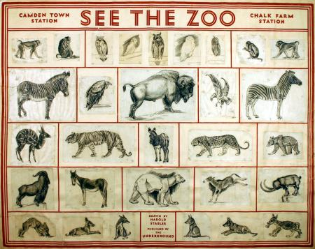 Related object: Poster artwork; See the Zoo, by Harold Stabler