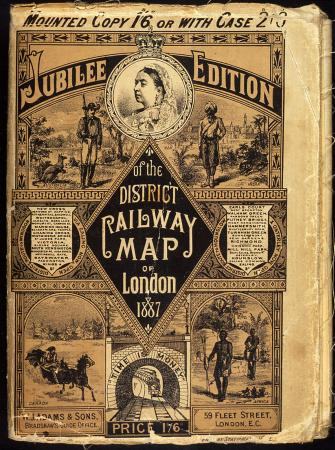 Jubilee Edition Of The District Railway Map Of London, 1887