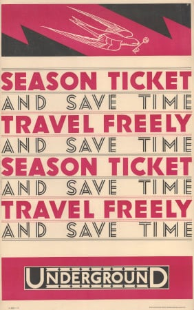 Related object: Poster; Season Ticket - save time - travel freely, by Dora M Batty, 1930