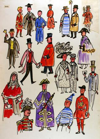 Related object: Poster artwork; We Londoners, by Dorrit Dekk, 1961
