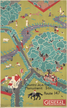 Related object: Poster; Country Joys from Monument Station, by Herry Perry, 1930