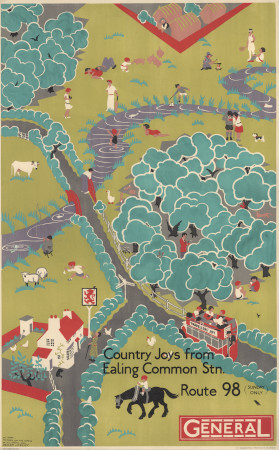 Related object: Poster; Country Joys from Ealing Common, by Herry Perry, 1930