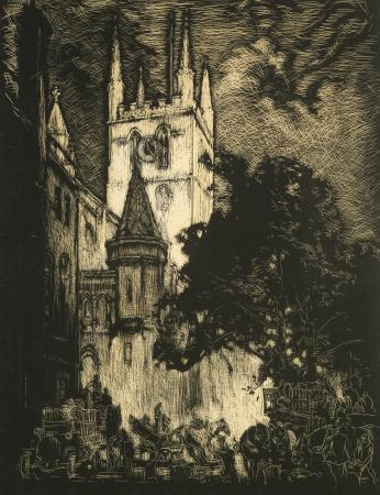 Related object: Poster artwork; Southwark Cathedral, by Frank William Brangwyn, 1937