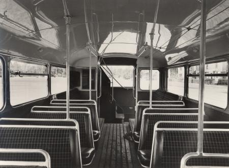 Related object: B/W print; Lower deck interior of double deck bus RM2 by Dr Heinz Zinram, 28 Jun 1957