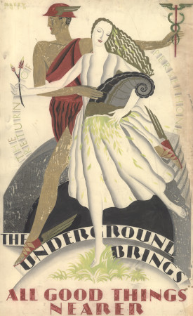 Related object: Poster artwork; The Underground brings all good things nearer, by Dora M Batty, 1930