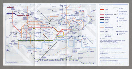 Map; pocket Underground map, issued by TfL, December 2018