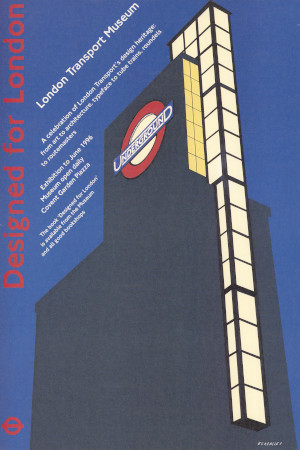 Poster; designed for london, by tom eckersley, 1995