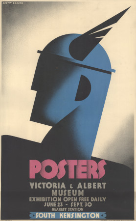 Related object: Poster; Posters at the Victoria and Albert Museum, by Austin Cooper, 1931
