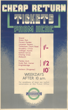 Related object: Poster; Cheap Return tickets from here, by Austin Cooper, 1935
