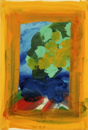 Related object: Poster artwork; Highgate Ponds, by Howard Hodgkin, 1990