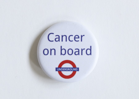 b9821192e1 Badge; Cancer On Board, created by James McNaught, 2016