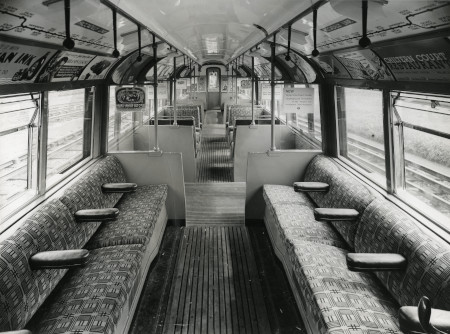 B/w print; interior of flat-ended experimental tube stock, gec, 1935