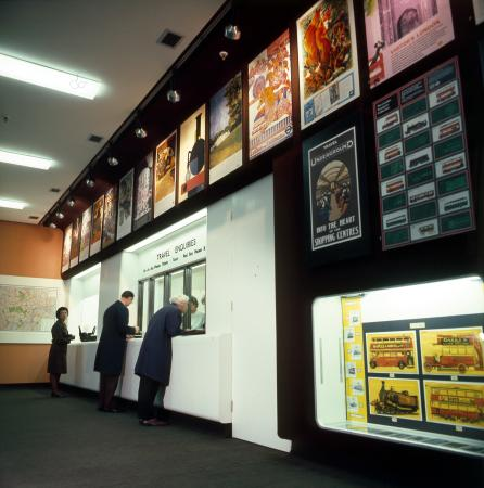 Colour transparency; the modernised travel enquiry office and poster shop at st james