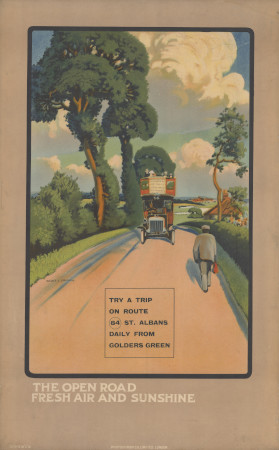 Related object: Poster; The open road; fresh air and sunshine, by Walter E Spradbery, 1914