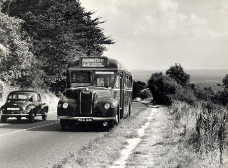 Related object: B/W print; View of GS-type bus by Dr Heinz Zinram, Sep 1955