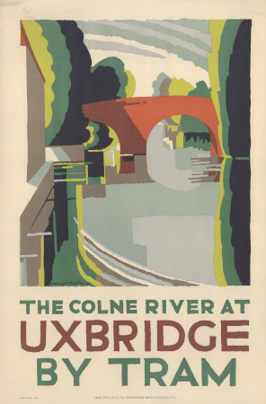 Poster; The Colne River at Uxbridge by tram, by Edward McKnight Kauffer, 1924