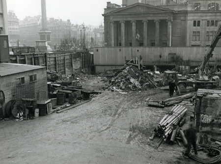 BW print; Charing Cross, Strand and Fleet line: Witcomb Street working site, 1976